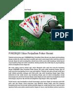 POKERQIU Situs Perjudian Poker Resmi