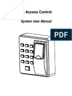 X6 Access Control System User Manual 20160229