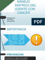 Manejo Odontologico y Pediatrico Del Paciente Con Cancer