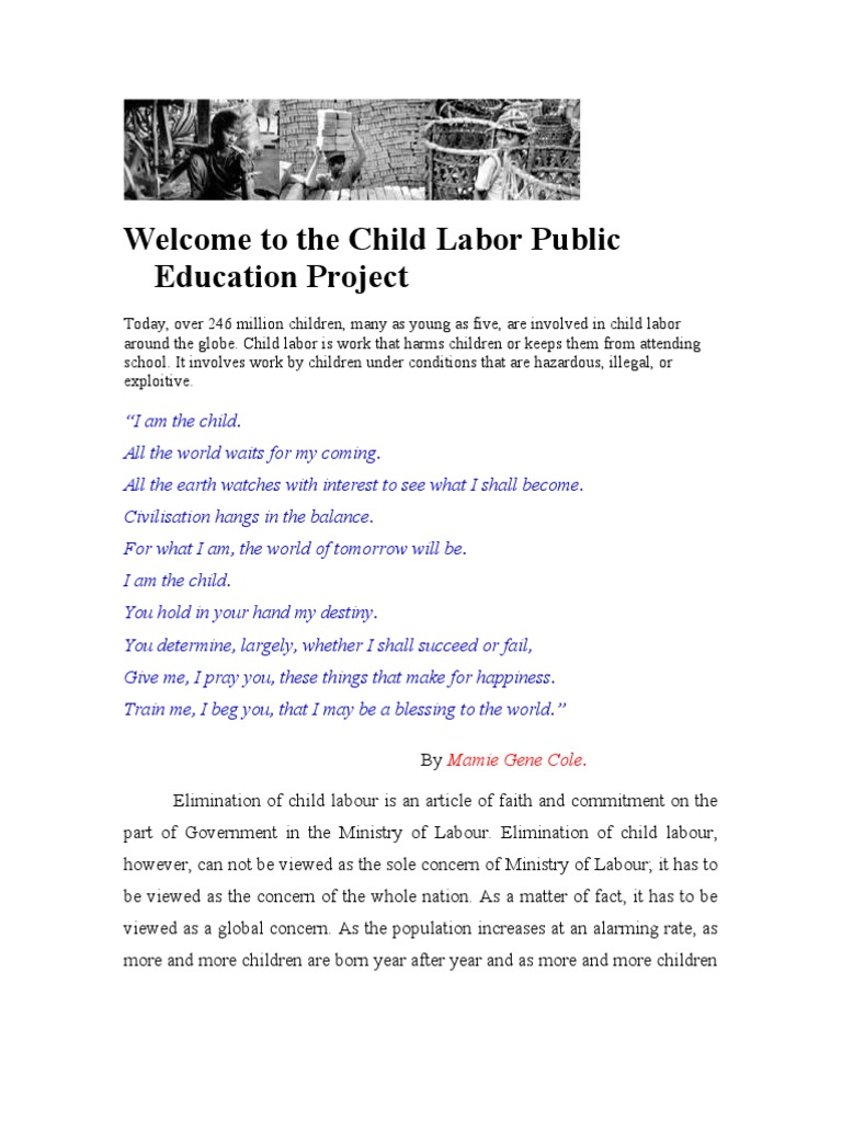 1 what are some of the causes of child labor