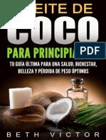 Aceite de Coco Para Principiant - Beth Victor