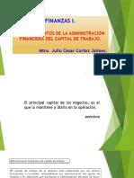 III. Fundamentos de La Administración Financiera Del Capital de Trabajo