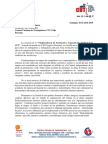 Carta Vicepresidencia Formación Sindical CUT
