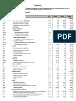 Presupuesto Veredas San Ines