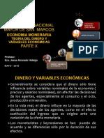 Parte x, Dinero y Variables Economicas