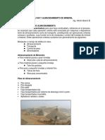 Tolvas y Almacenamiento de Mineral