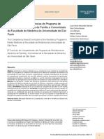O Curriculo de Competencias Do Programa de Residen