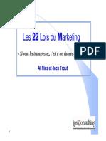 1. Les 22 Lois Du Marketing
