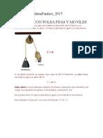 Cálculo Con Polea Fijas