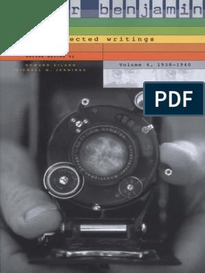 Walter Benjamin_ H. Eiland, M. W. Jennings (Eds.) Walter