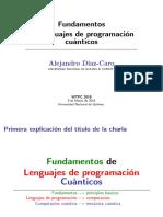 Fundamentos de lenguajes de programación cuánticos