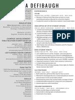 defibaugh resume