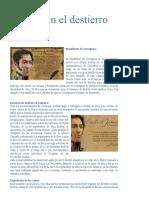 Bolívar en El Destierro