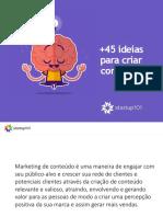 E-book Ideias Criar Conteudo