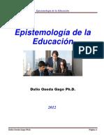 Oseda, D. - 2012- Epistemología de La Educación