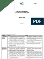 Medicina Criterios de Evaluación ARCU SUR 2015