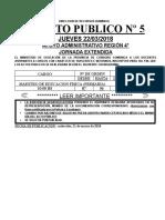 Acto Publico Jornada Extendida 21032018