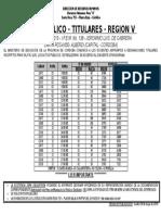 Acto Publico Titulares 5ta 19-11-20131