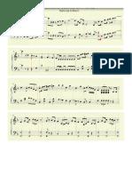 Partitura Del Himno Nacional de un Video