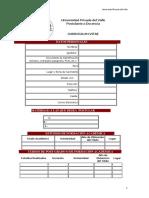 Modelo Cv Univalle 2018 Curriculum Vacio