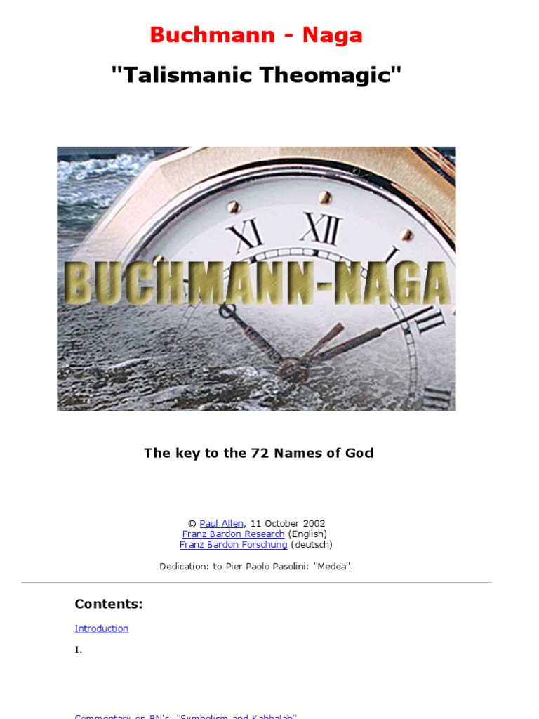 Buchmann naga the key to the 72 names of god kabbalah equator ccuart Choice Image