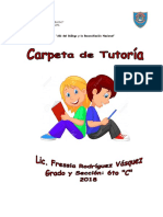 Plan Anual de Aula - TUTORIA 6to C