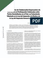 Los Contratos de CE y a en P Aspectos Tributarios en La Ley Del IR y Del IGV