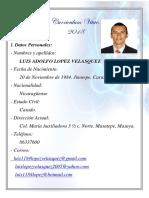Curriculum Vitae 2018 Luis Adolfo López