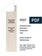 Pert Math Study Guide 1