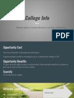 value of college slides