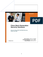 Cisco Next-Generation Security Solutions All-In-One Cisco ASA Firepower Services, NGIPS, And AMP