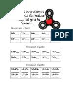 Spinner Multiplicaciones