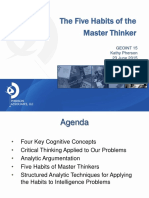 The Five Habits of the Master Thinker - K Pherson 2015