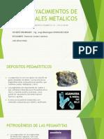 Yacimientos Pegmatitas -Stock Work