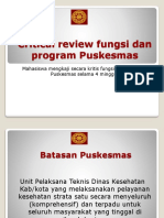 Analisis Fungsi Dan Program Puskesmas