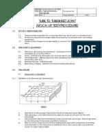 Tube-Tubesheet Mockup Test Procedure