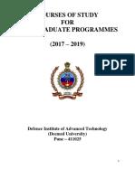Part I Programme- 2017-19.