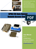RTU5025 GPRS 3G Gate Opener User Manual V1.7
