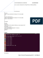 Cpp Lab Manual