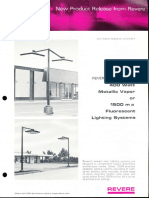 Revere New Product Release - 1300A Metal Halide & 1500ma Fluorescent Bulletin 1968