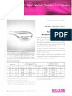 Revere New Product Release - 2600 Endoval Roadway Metal Halide Bulletin 1967