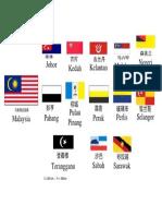 马来西亚各州州旗