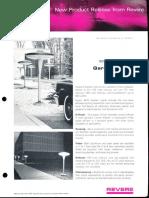 Revere New Product Release - 4470 Series Garden Lights Bulletin 1967