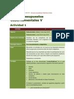 CONSIGNAS de F1127 Presupuestos Gubernamentales V