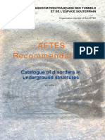 Catalogue of Disorders in Underground Structures