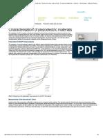 Characterisation of Piezoelectric Materials