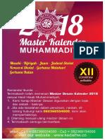 Master Kalender Muhammadiyah 2018
