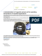 Characterization of Magnetic Sensors at the Operating Temperature of Industrial Applications