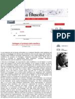 Heidegger e Il Problema Della Metafisica Inter Vista a Von Hermann