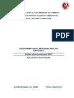 Procedimientos Del Método de Analisis Porcentual